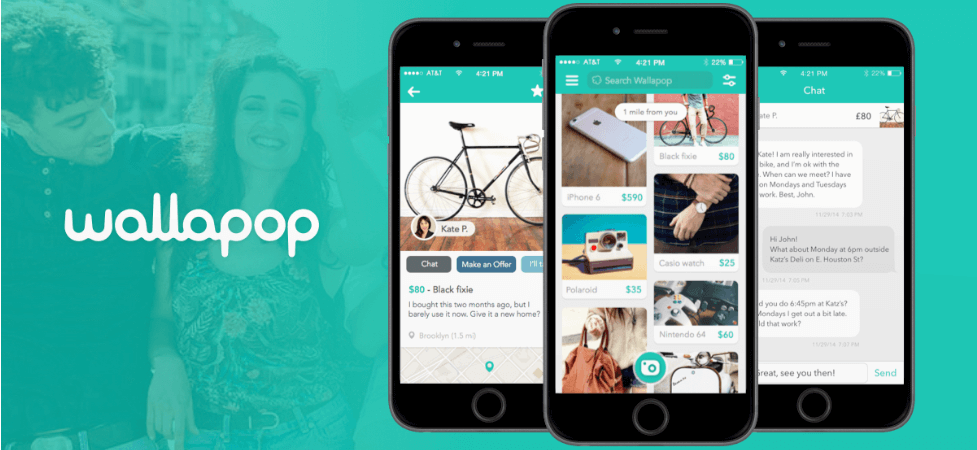 capture d'écran de l'application wallapop