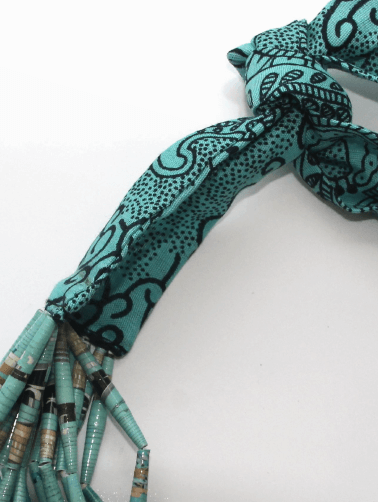 Collier African Queen Turquoise détail