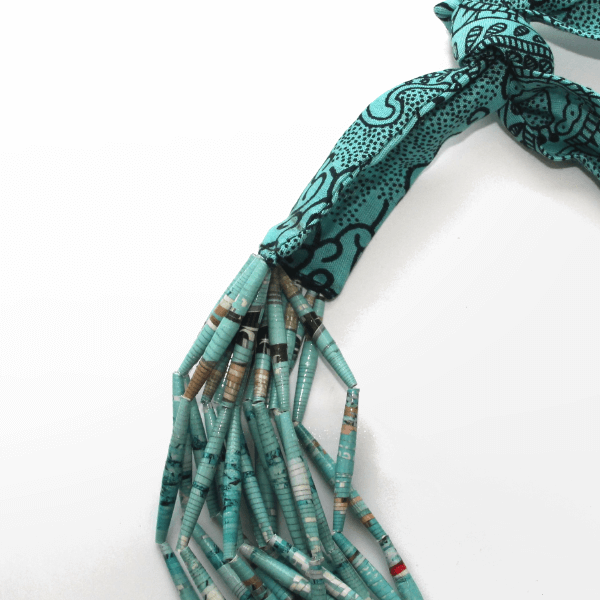Collier African Queen Turquoise detail