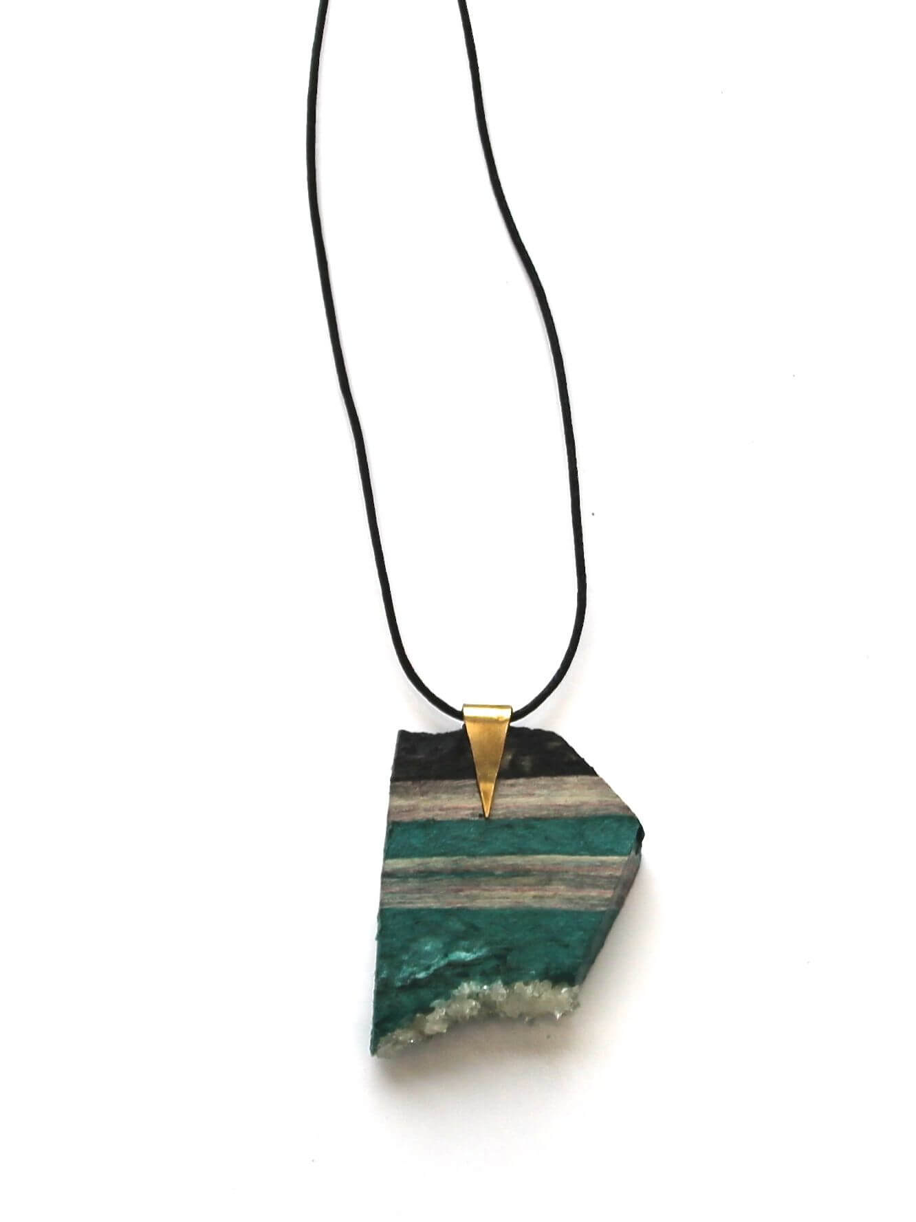 collier paper rock emeraude