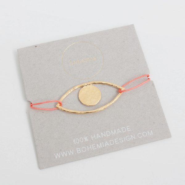 bracelet boheme oeil or packaging