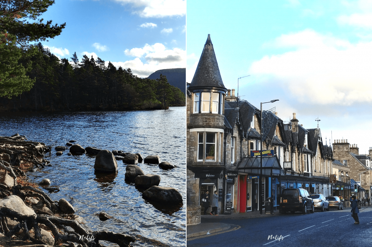 Cairghorms National Park et Pitlochry