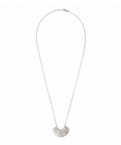 Collier long Rosa argenté