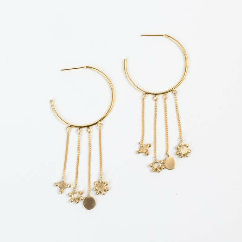 Boucles d'oreille constellation or