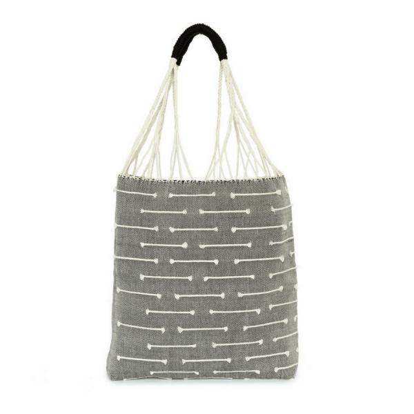 tote bag tissé main gris