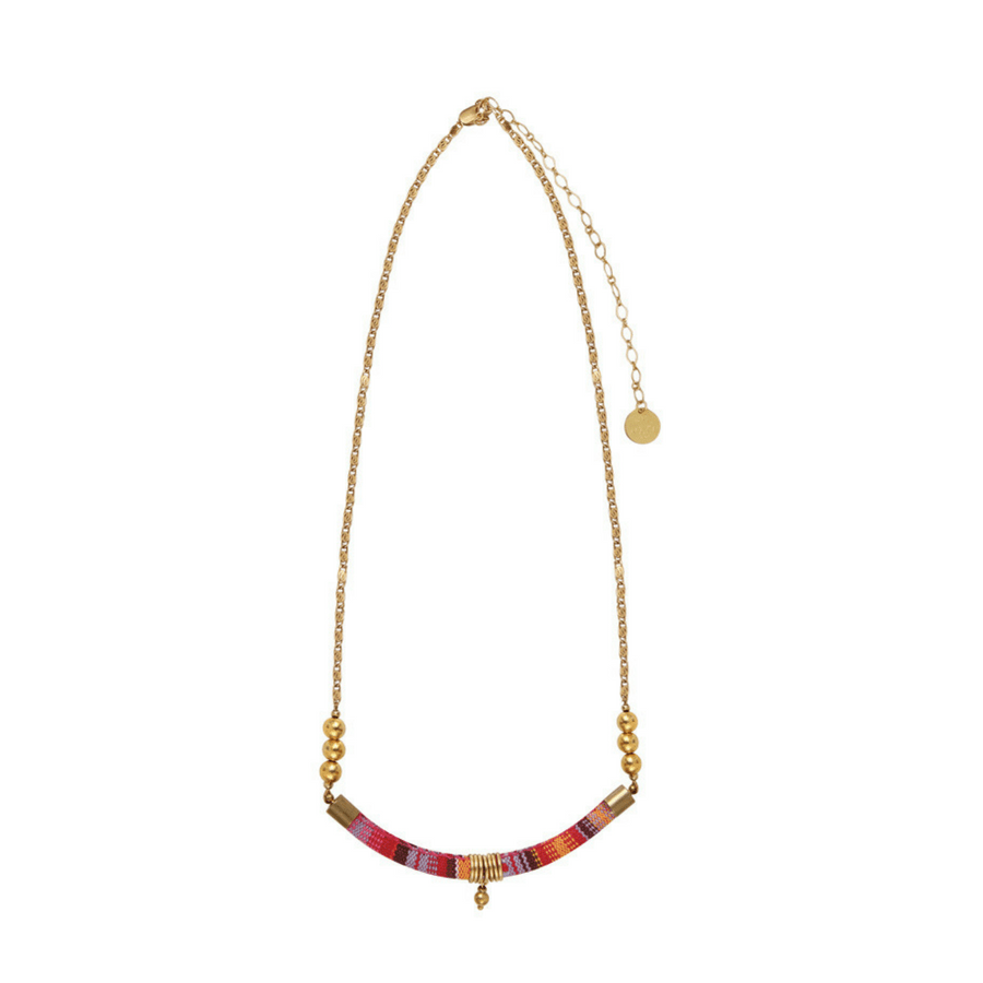 Collier Madame Melon Hanoï rose