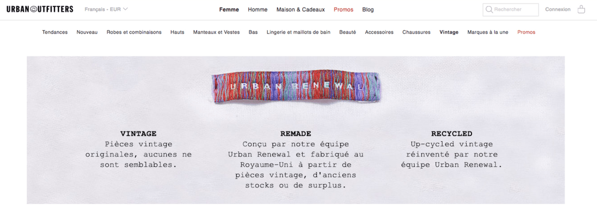 Le seconde main hipster d'Urban Outfitters